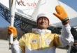 In Korea's satellite centre the Olympic Flame of the winter games (Photo)